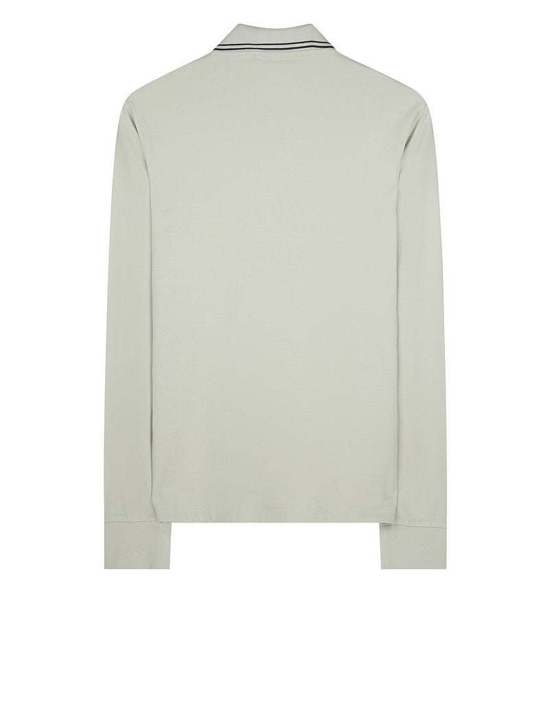 2SS18 Long Sleeve Polo Shirt in Fog