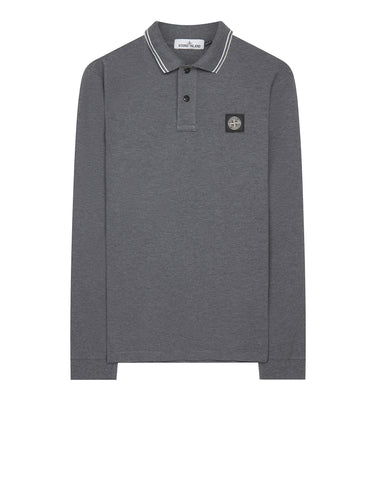 2SS18 Long Sleeve Polo Shirt in Grey
