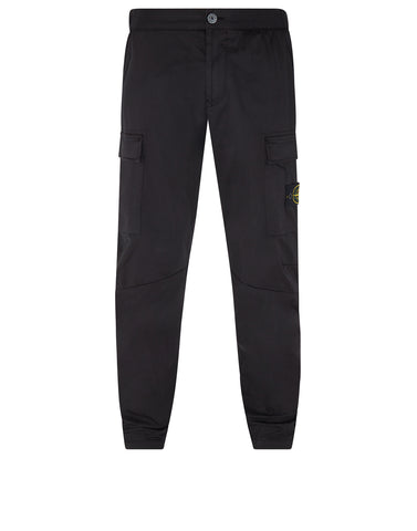 30804 Cotton Cargo Pants in Black