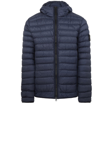 40124 GARMENT DYED MICRO YARN DOWN Jacket in Marine Blue