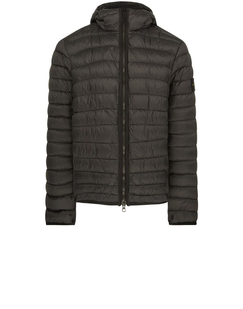 40124 GARMENT DYED MICRO YARN DOWN Jacket in Black