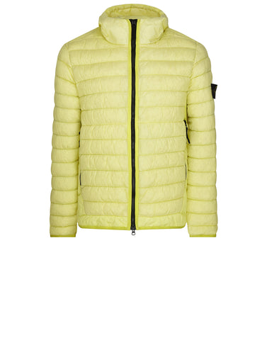 40124 GARMENT DYED MICRO YARN DOWN Jacket in Yellow
