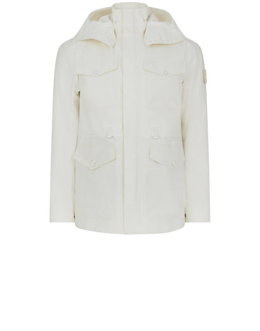42129 GHOST PIECE_TANK SHIELD Field Jacket in White