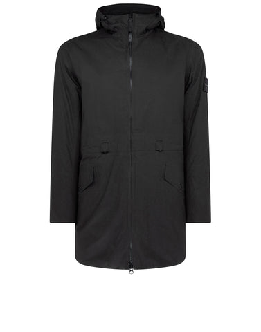42325 WATER REPELLENT SUPIMA COTTON Jacket in Black