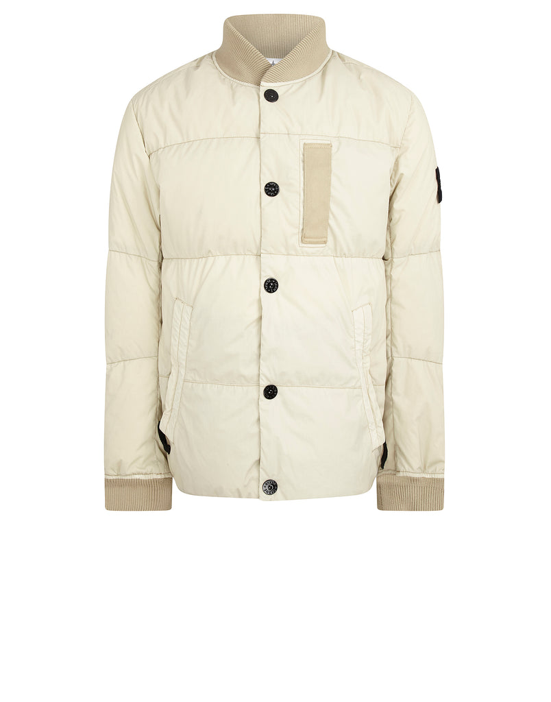 44534 MUSSOLA GOMMATA VELOUR DOWN TC Jacket in Ivory