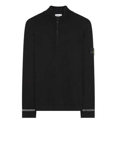 501A3 Half Zip Knit in Black
