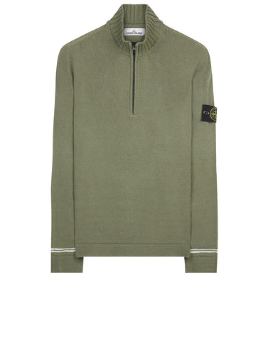 501A3 Half Zip Knit in Green