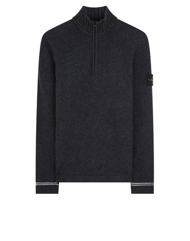 501A3 Half Zip Knit in Charcoal