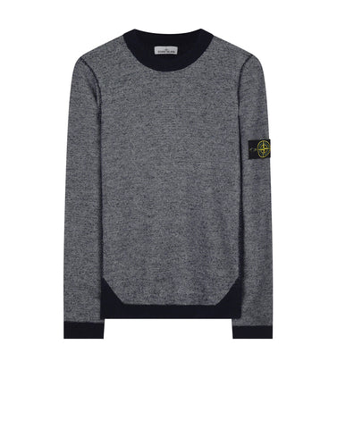 512B1 Wool Blend Crew Neck Knitwear in Grey