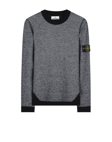 512B1 Wool Blend Crew Neck Knitwear in Black