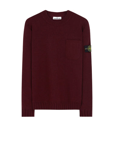 527A3 Lambswool Crewneck Knit in Burgundy