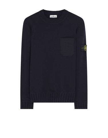 527A3 Lambswool Crew Neck Sweatshirt in Navy