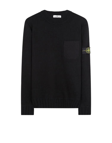 527A3 Lambswool Crew Neck Knit in Black