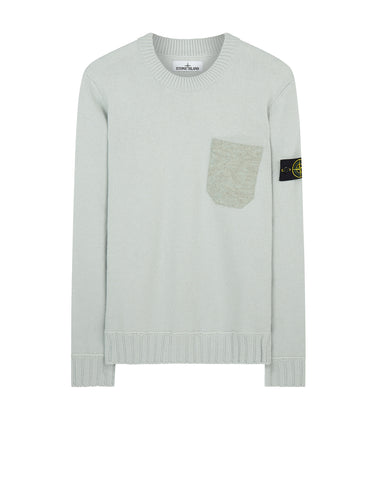 527A3 Lamswool Crew Neck Knit in Light Grey
