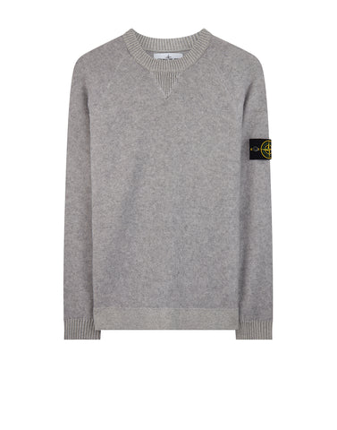 529D9 Wool Mix Raglan Crew Neck Knit in Grey