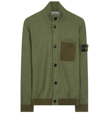 530D9 Wool Blend Cardigan in Khaki