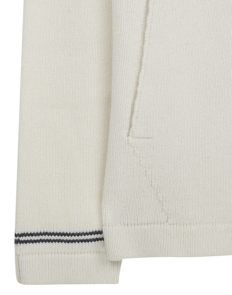 540A3 Hooded Cardigan in White