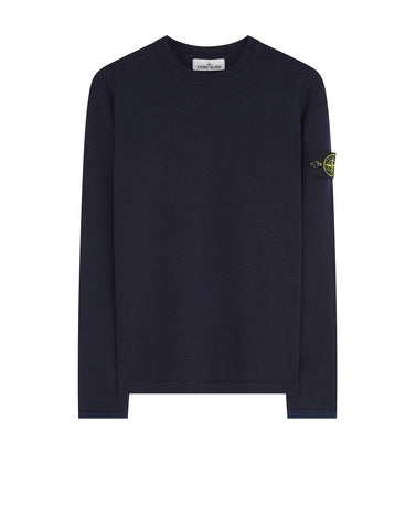 542A1 Crewneck Wool Knit in Marine Blue