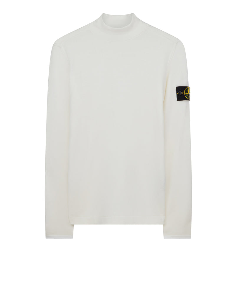 543A1 Turtle Neck Knit in White