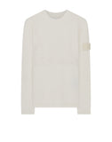 576D3 GHOST PIECE Crew Neck Wool Knit in White
