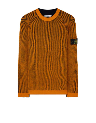 580D1 REVERSIBLE KNIT in Orange