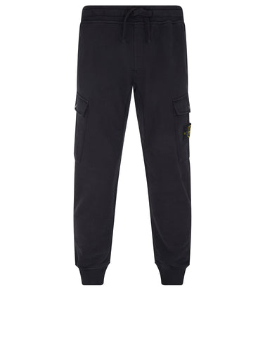 61120 Cotton Fleece Jogging Pants in Black