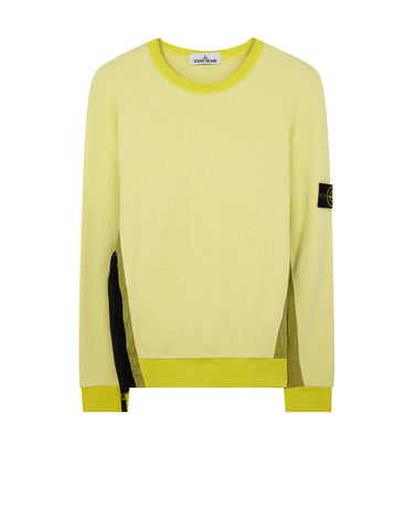61338 Gauzed Fleece Nylon Metal Sweatshirt in Yellow