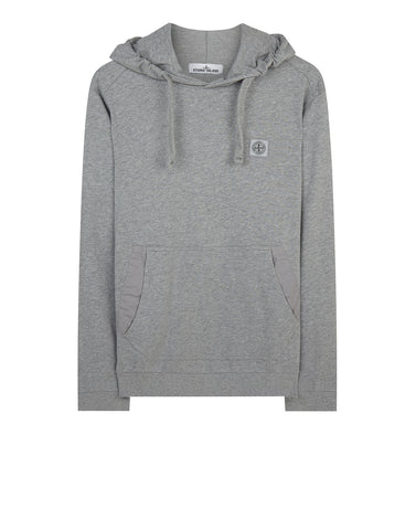 62239 Cotton Fleece Hooded Sweatshirt in Marl Grey