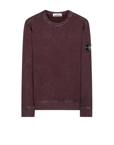 62719 WHITE FROST Crew Neck Sweatshirt in Red