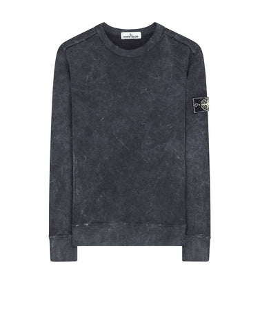 62719 WHITE FROST Crew Neck Sweatshirt in Black