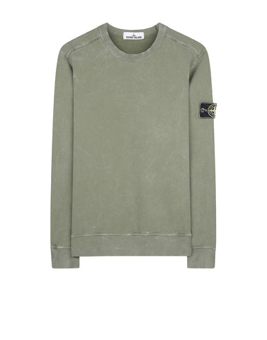 62719 WHITE FROST Crew Neck Sweatshirt in Green