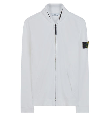63020 Zip Sweatshirt in White