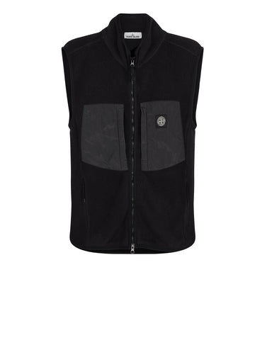 64738 Nylon Panel Vest in Black