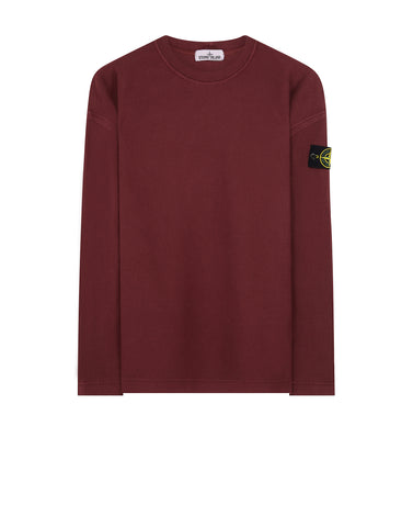 67143 T.CO+OLD Ribbed Cotton Crew Neck Fleece in Burgundy