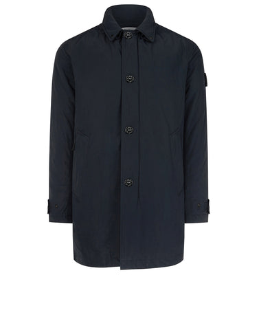70126 MICRO REPS Trench Coat in Navy Blue