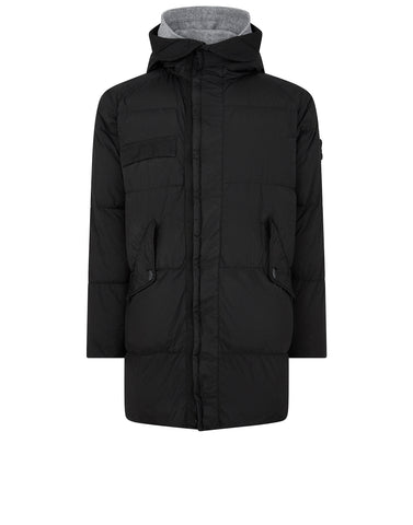 70223 GARMENT DYED CRINKLE REPS NY DOWN Jacket in Black