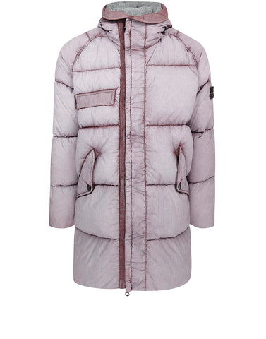 70253 TELA NYLON DOWN PARKA WITH DUST COLOUR FROST FINISH in Pink