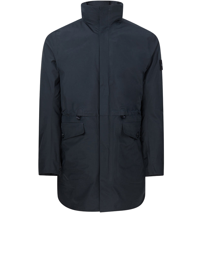 stone island uk 70329 ghost piece tank shield trench coat in blue stone island autumn. Black Bedroom Furniture Sets. Home Design Ideas