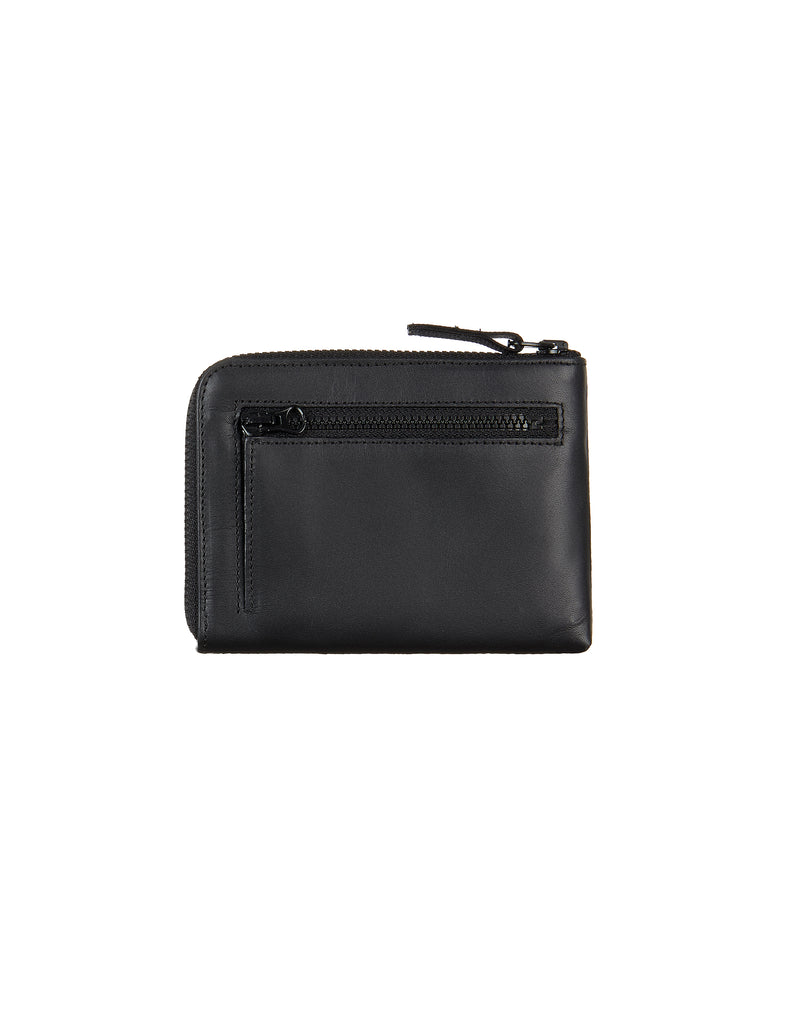 90979 Leather Coin Wallet in Black