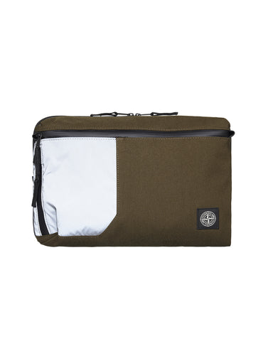 91870 Nylon Tela Laptop Case in Khaki