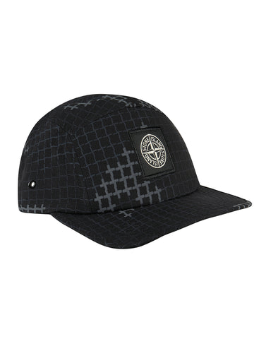 990ED Check Grid Camo Cap in Black