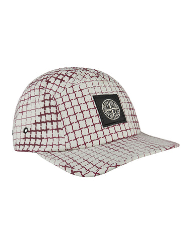 990ED Check Grid Camo Cap in White