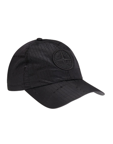 995JD SI HOUSE CHECK JACQUARD ON NYLON METAL Cap in Black