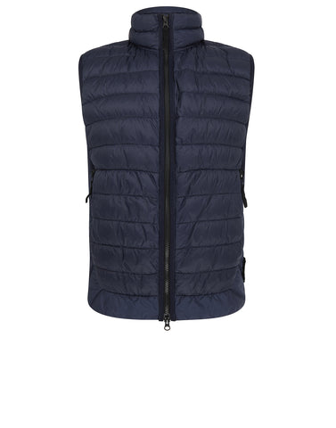 G0124 GARMENT DYED MICRO YARN DOWN_PACKABLE Vest in Marine Blue