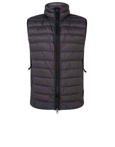 G0124 GARMENT DYED MICRO YARN DOWN_PACKABLE Vest in Charcoal
