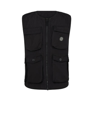 G0636 NYLON METAL FLOCK Vest in Black