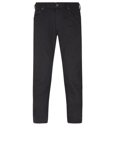 J4BQ1 Dark Denim Tapered Jeans in Black