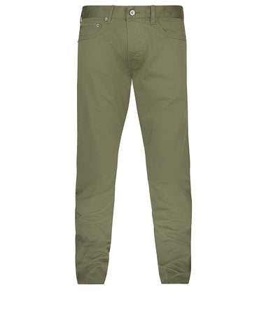 J4BZM Cotton Satin Trousers in Green