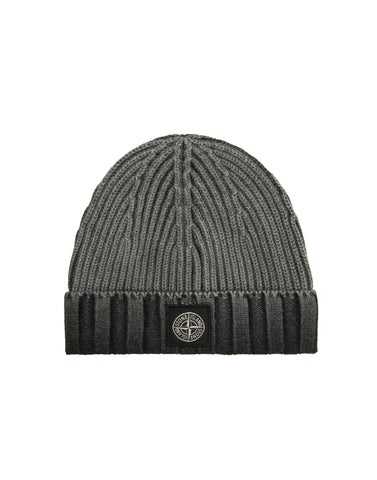 N01B7 WHITE FROST Wool Hat in Black
