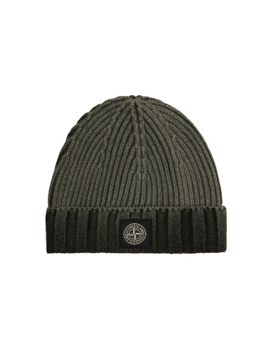 N01B7 WHITE FROST Wool Hat in Green